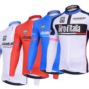 New-Cycling-Racing-Team-Long-Sleeve-Men-039-s-Black-Team-Racing-Cycling-Jersey