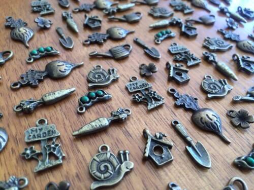 10-100 Bronze Garden Charms for Craft /& Scrapbooking