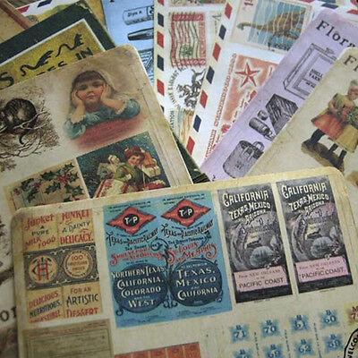 Set of 10 Small Flora Studio Retro Vintage Stickers Pack scrapbook album diary