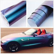 600X1520mm DIY Chameleon Blue-Purple Car SUV Decoration Vinyl Wrap Anti-Wrinkle