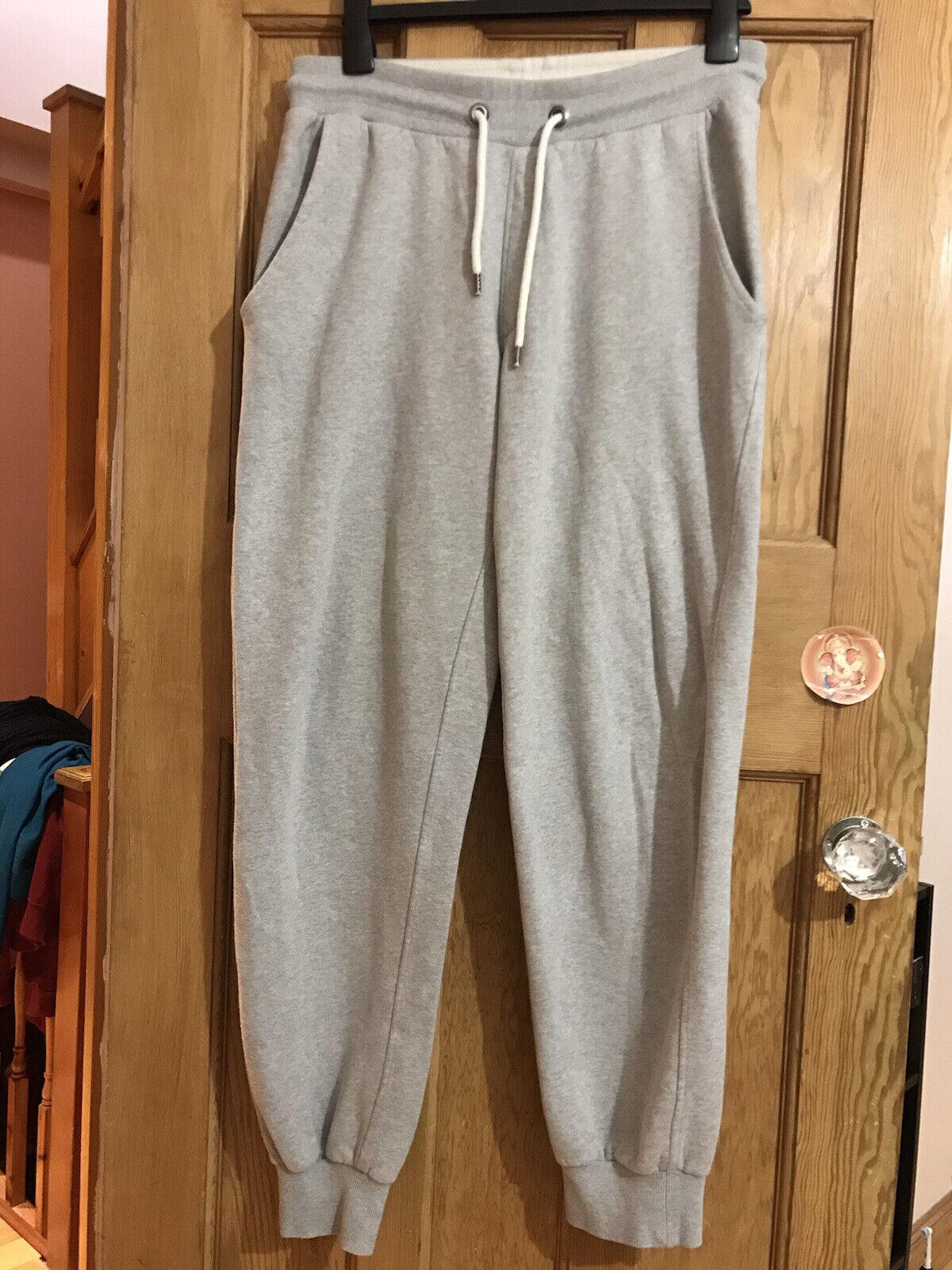 Espirit Mens Grey Joggers Medium Loungewear Gymwear With Tie String