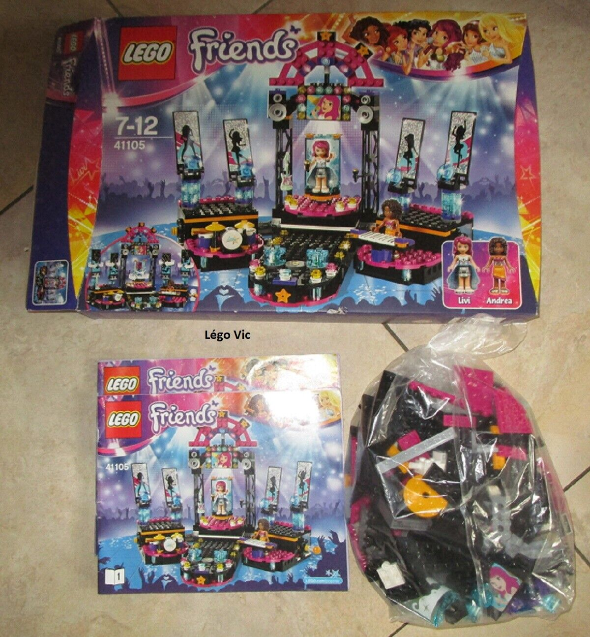 Lego 41105 Friends Pop Star Show Stage  Notice  Boite CNB20
