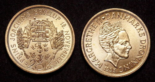DENMARK 20 KRONER 1995 COMMEMORATIVE KM881 UNCIRCULATED