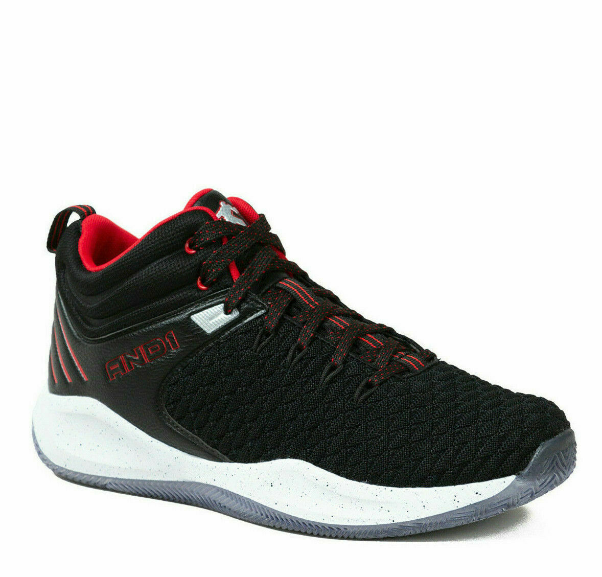 AND1 Men's SIZE 11 Knit Basketball BB Athletic Shoe Black, RED on eBay thumbnail