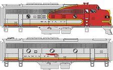 Walthers Proto HO #920-48275 EMD F3A-B Set, 16 Class - Santa Fe Warbonnet NEW