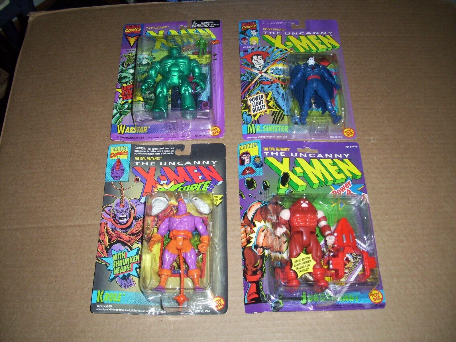 Toy Biz Marvel The Mutants Action Figures Lot 4 X Men And X Force