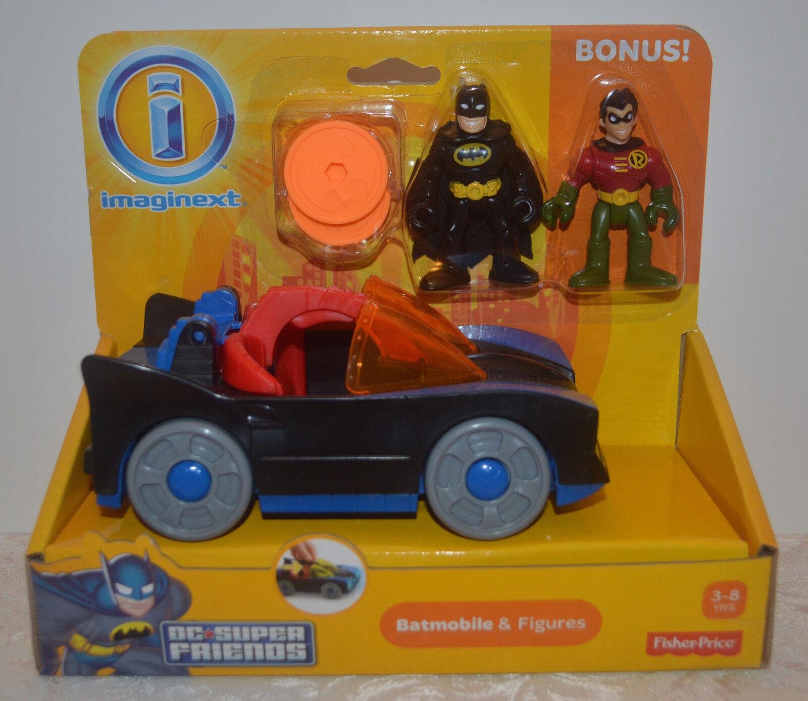 BATCAR & & & BATMAN w Bonus ROBIN Figure & PENGUIN COPTER Imaginext DC Super Friends d1297d