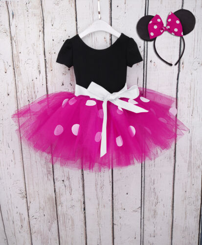 Little Miss Mouse Costume Girl Kid Baby Tutu Ballet Party Cosplay Fancy Dresses