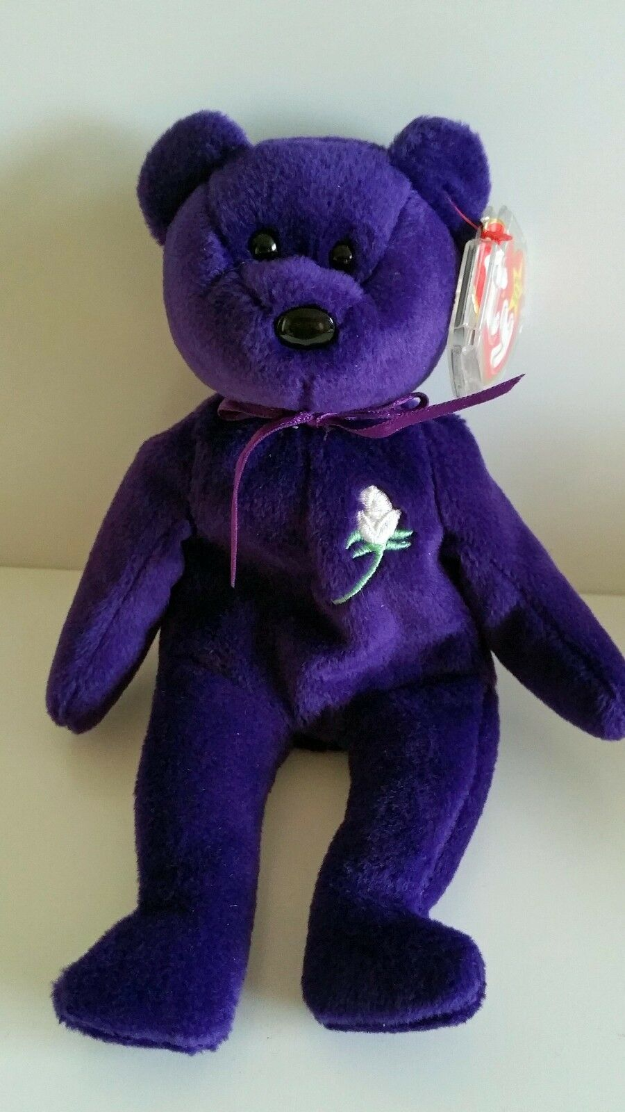 Princess Diana Beanie Baby 1st Edition, Rare 1997 Ty P.E. Indonesia No Spaces