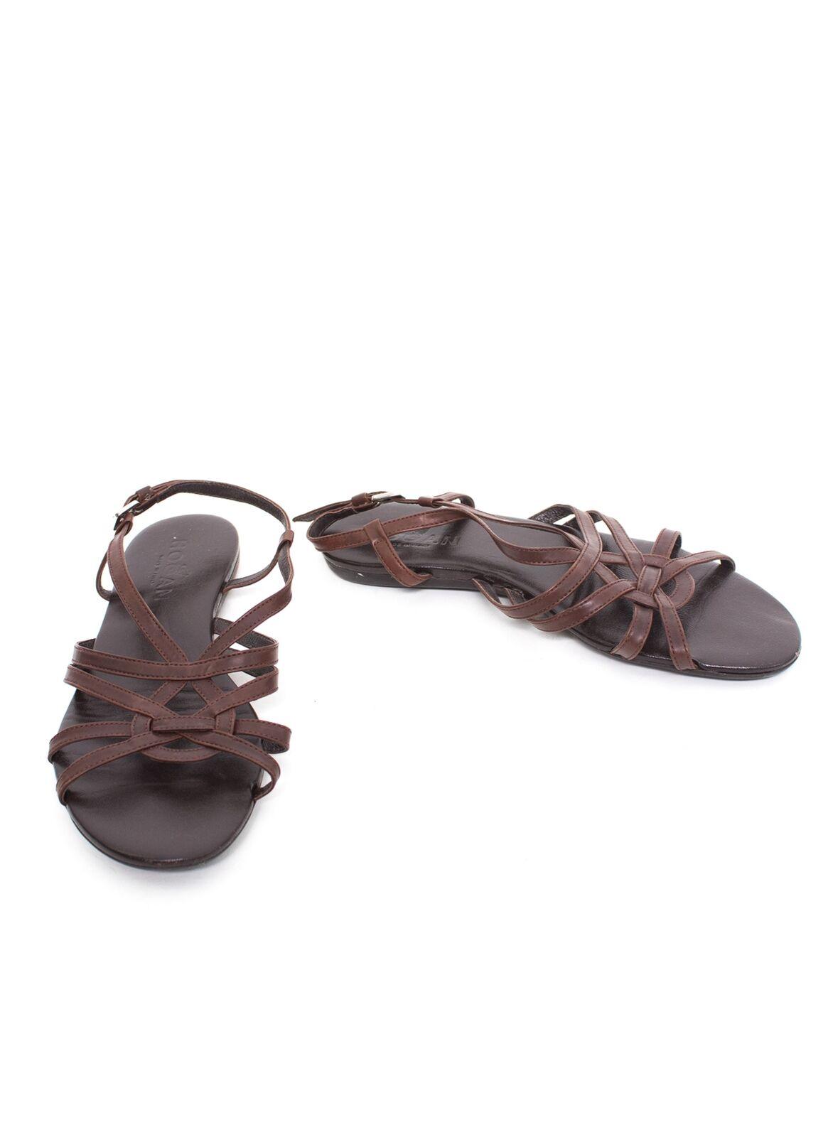 Hogan sandalias Talla EU 35 zapatos señora sandalias de cuero marrón