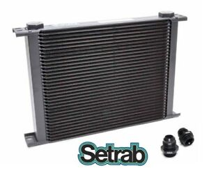 FREE SHIP! SETRAB OIL COOLER P//N  613 P//N 50-613-7612 with FITTINGS 13 ROW