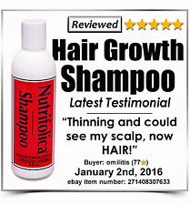 NUTRIFOLICA HAIR LOSS GROWTH SHAMPOO - great 4 permed dyed dye hair men & women