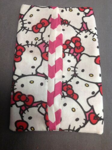 Hello Kitty Pink Chevron Cotton Color Fabric Kleenex Travel Tissue Pouch Holder