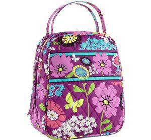 NWT Vera Bradley Lunch Bunch (Let s do lunch) Bag In Flutterby 12370 ... d8ddfd0e061d9