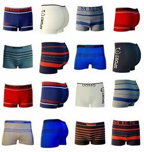 6er 8er Uomo Rétro Boxer Shorts Hommes Slip Microfibre Sous-vêtements Pants-afficher Le Titre D'origine