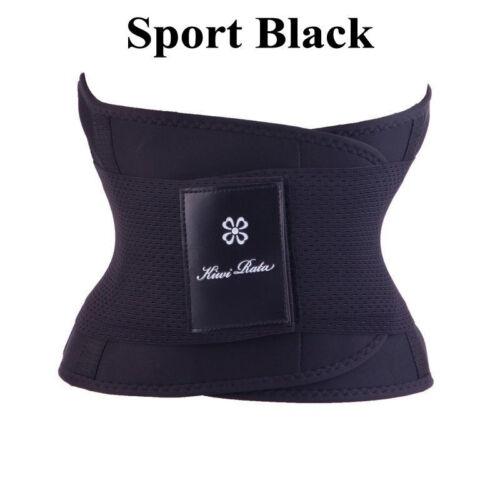 Waist Trainer Cincher Trimmer Power Sweat Slim Belt Men Women Gym Body Shaper UK