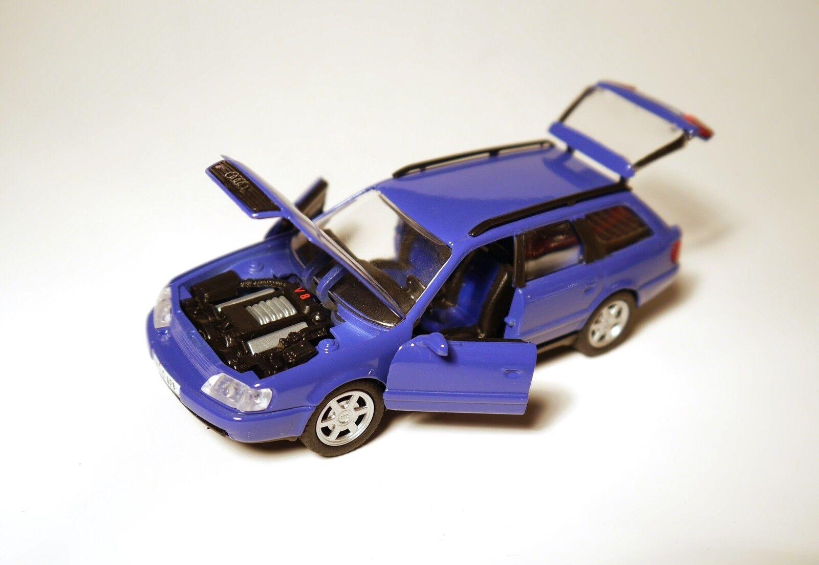Audi S6 Plus Plus Plus Avant in nagaro blau Blau Blau Blau, Schabak in 1 43 - SOLO  | Perfekt In Verarbeitung  db2aac