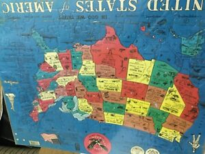 """Details about Vintage F. X.Schmid /USA UNITED STATES of AMERICA map Puzzle  16x20"""""""