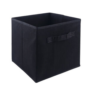 4x Foldable Square Felt Home Storage Collapsible Basket Bag folding box
