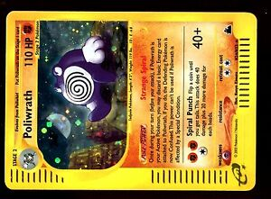 POKEMON-SKYRIDGE-HOLO-ENGLISH-CARD-CARTE-N-H24-H32-POLIWRATH-110-HP