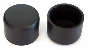 30x20x2 mm Endkappen Fußkappen Rohr stopfen Schwarz Kappen Neu 50 stk