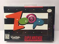 Zoop (super Nintendo Entertainment System, 1995) Snes Sealed