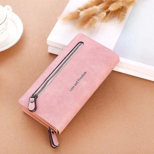 NEW Women Leather Wallet Case Clutch Purse Lady Long Handbag Card Holder Pocket