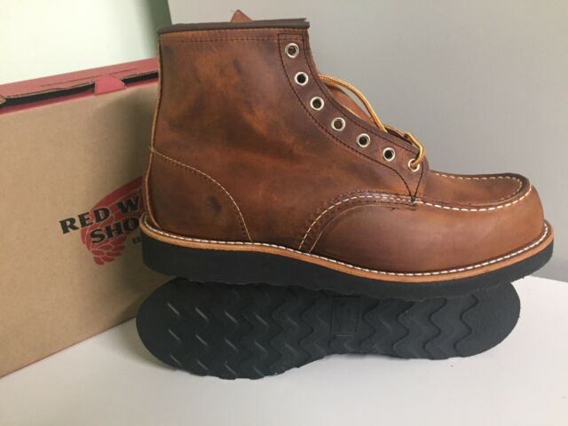 NEW RED WING 8886 /875 LIMITED EDITION MENS 10D MOC TOE BOOTS COPPER ROUGH&TOUGH