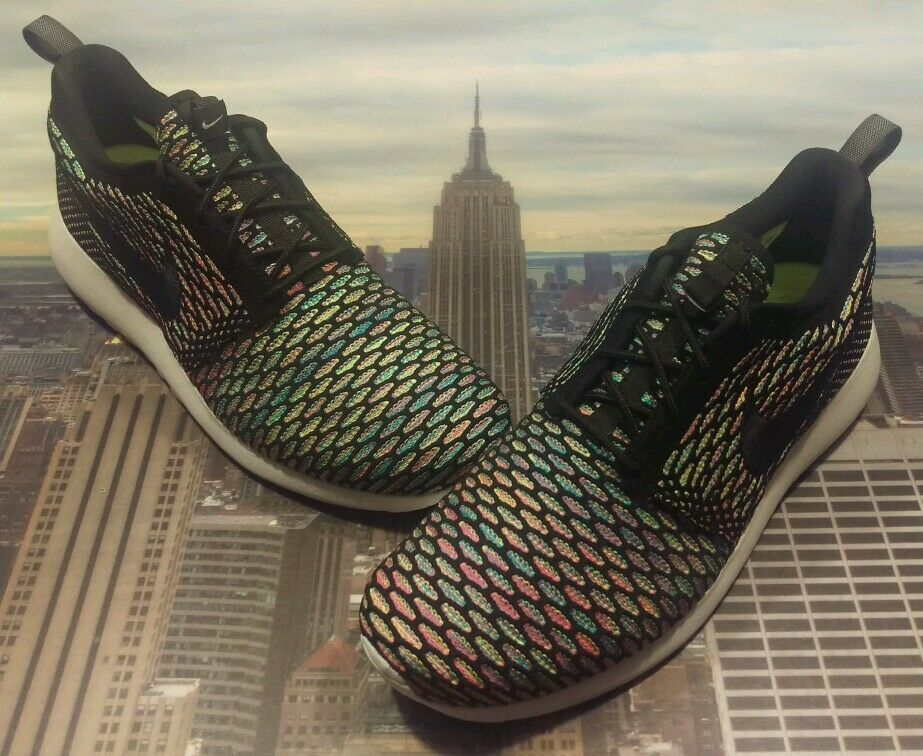 Nike iD Rosherun Flyknit Multi-Color Men's Size 10 Roshe Run 718293 993 New