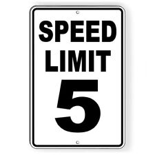 Speed Limit 10 Sign Metal MPH slow WARNING Traffic Road Highway