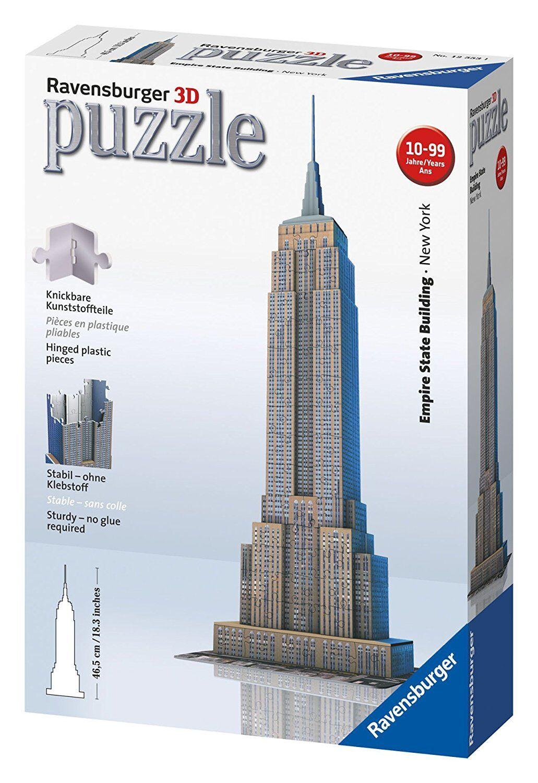 Ravensburger 125531 - Empire State Building-Puzzle 3D, 216 pieces