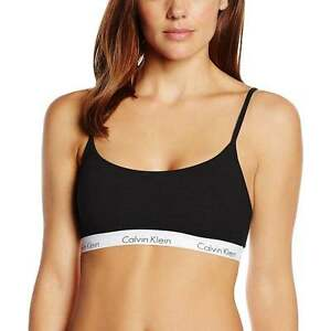 Cotton Calvin Bralette Klein One Ck Donna Nero 6IrSTqI