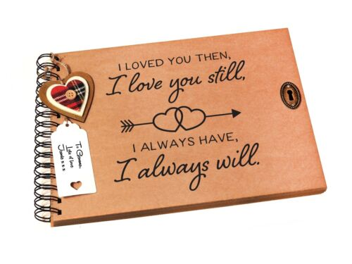 Girlfriend Gift Idea Photo Album Scrapbook Boyfriend A4//A5 I Love You