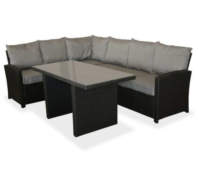 Polyrattan Sitzgruppe Lounge Garnitur Gartenmöbel Rattanmöbel