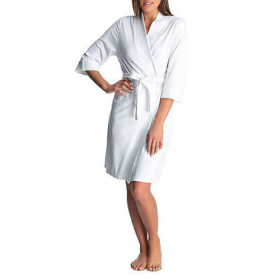 NEW Soho 'Light Weight' Terry Towelling Robe SSOS16049W White