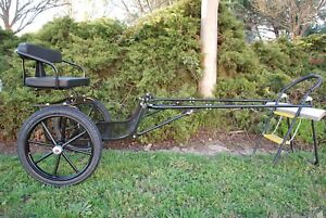 """EZ Entry Mini Horse Cart w/""""C"""" Springs w/48""""-55"""" Shafts w/18"""" Motorcycle Tires"""