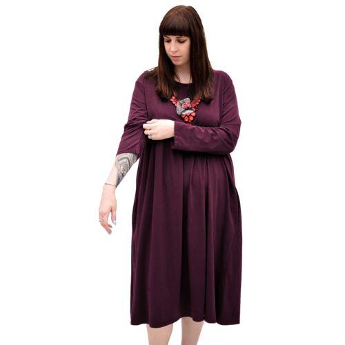 Wolfairy femme Nouveau Taille Plus robe longue évasée Swing à manches longues Casual Summer