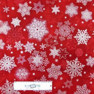 Patchwork Quilting Sewing Fabric FAWN WITH METALLIC RED SPOTS 50x55cm FQ New