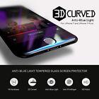 iPhone 7 3D FULL COVER Panzerglas Panzerfolie SCHWARZ AntiBlue Light Real