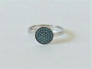 925-STERLING-SILVER-BLUE-TURQUOISE-RING-size-N-or-P-everyday-wear