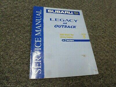2000 Subaru Outback Sedan Wagon Electrical Wiring Diagrams ...