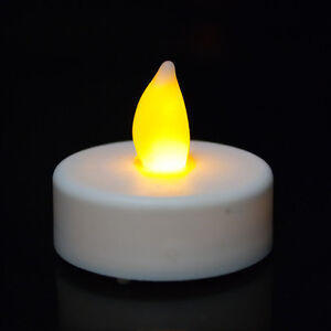 wholesale led battery operated flameless tealight candles amber yellow wedding ebay. Black Bedroom Furniture Sets. Home Design Ideas