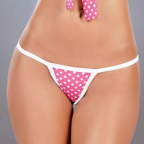 5001 Pink Fuchsia Polka Dot PLEATED DANCER ROLLER MICRO MINI SKIRT RAVE S M L
