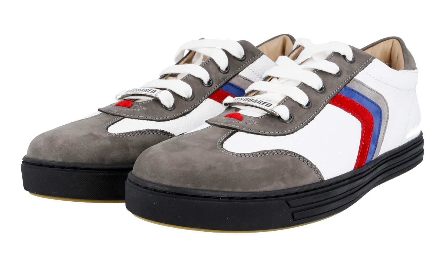 257f4abe896 AUTHENTIC LUXURY DSQUARED SHOES SN408 GREY NEW US 10 SNEAKERS  ntuifk4840-Athletic Shoes