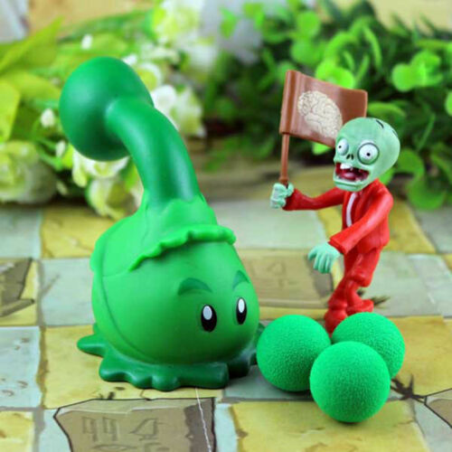 Plants vs Zombies Peashooter PVC Action Figure Model Soft Toy Kids Gifts Toys