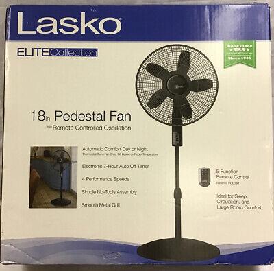 "LASKO 18/"" ELITE Collection Pedestal Fan Remote Controlled Oscillation Brand New"