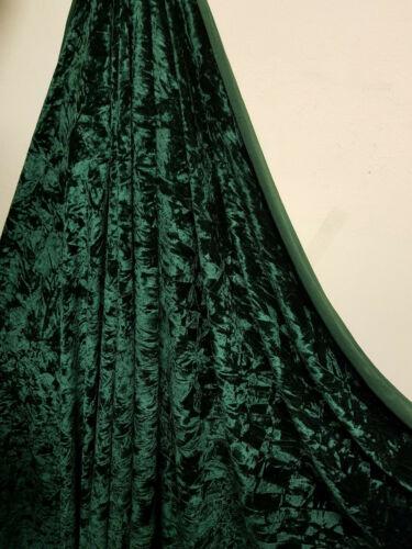 "Verde Botella Diamante Ice Crush tejido de terciopelo 58/"" Precio Por Metro"