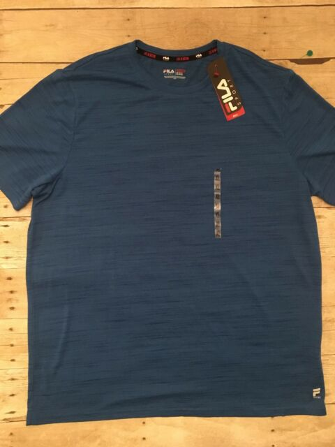 0856ac4051db Fila Sport Men's Athletic Running T Shirt Moisture Wicking XL Tee Blue NWT  NEW