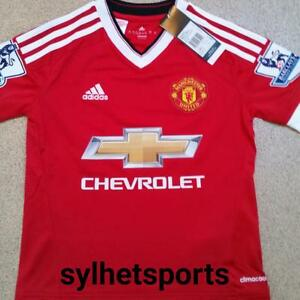 Image is loading Adidas-Manchester-United-Junior-Home-Shirt-2015-16-