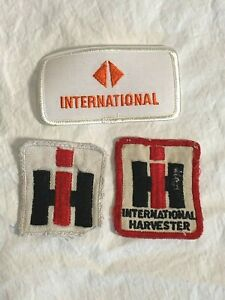 Lot-3-INTERNATIONAL-HARVESTER-brand-cloth-PATCH-Patches-Square-Rectangle